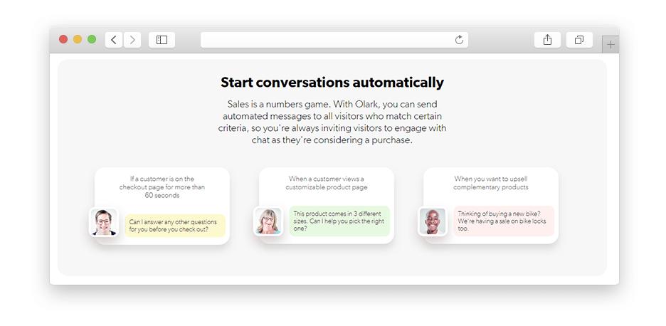 Olark conversation automation