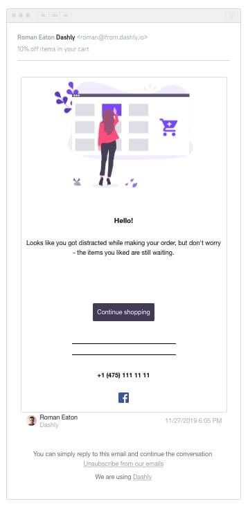 abandoned chat email