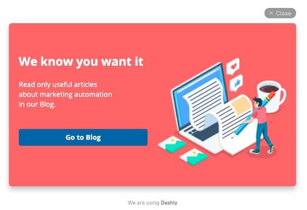 visit our blog pop-up