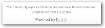 unsubscribtion in dashly