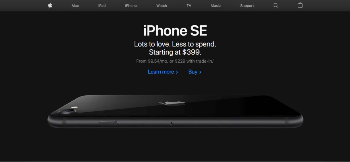 Apple product marketing