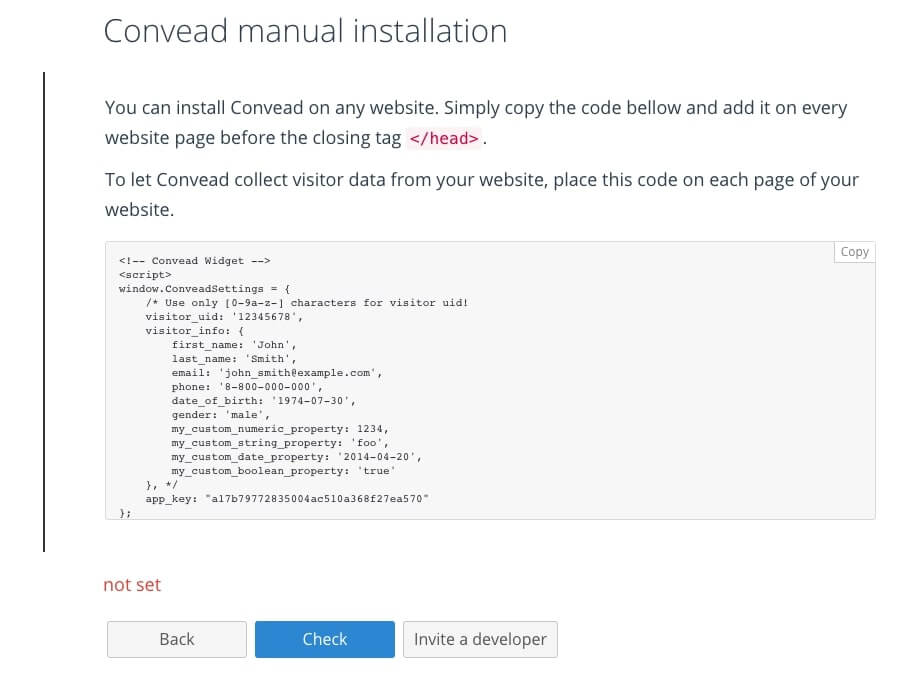 convead install