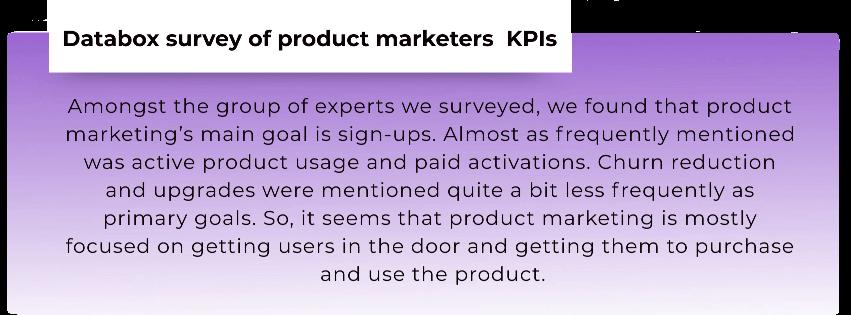 Product marketers metrics