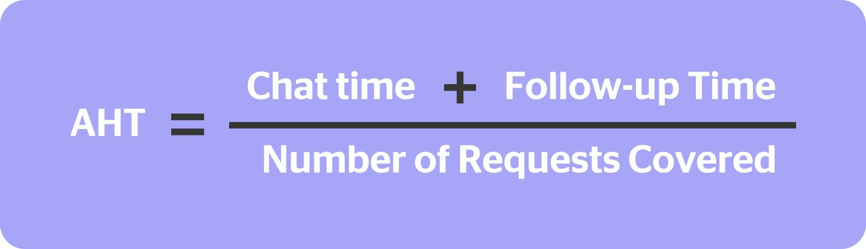 average handling time formula kpi for customer service