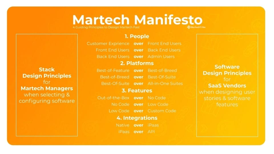 Martech stack building principles from Martechtribe