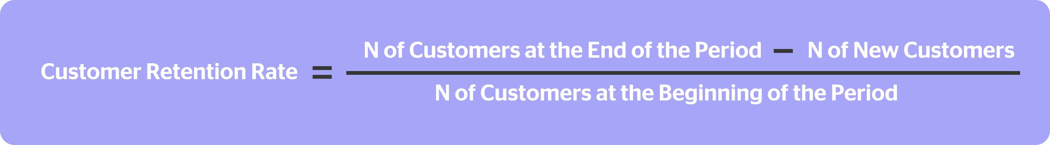 retention rate formula kpi for customer service