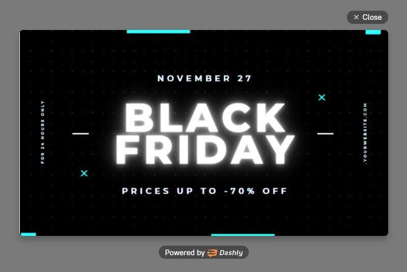 Black Friday pop-up