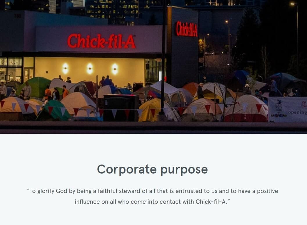 Chick-fil-A customer service philosophy