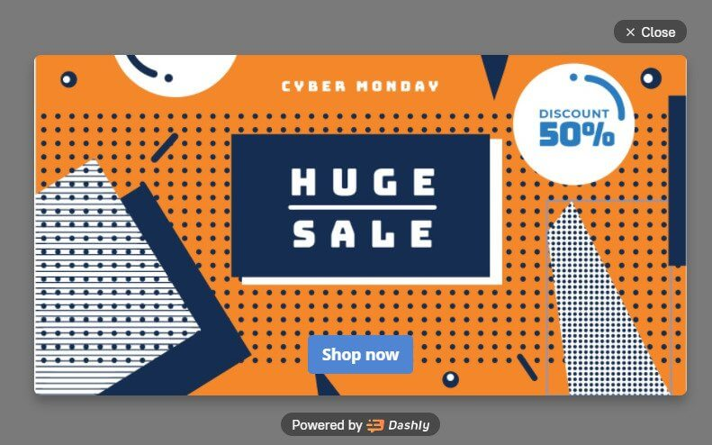 Cyber Monday pop-ups