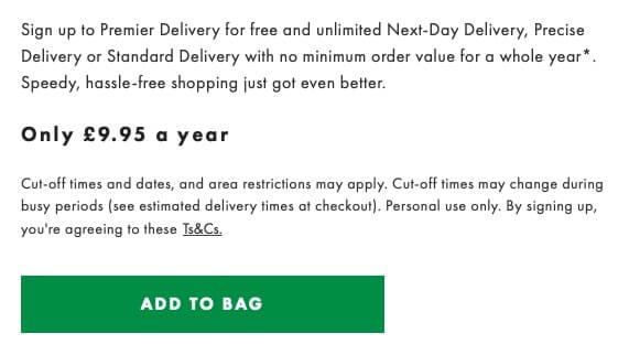 Asos premium delivery
