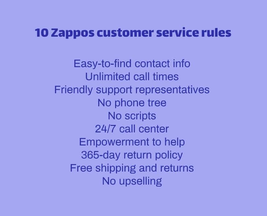 Zappos customer service philosophy