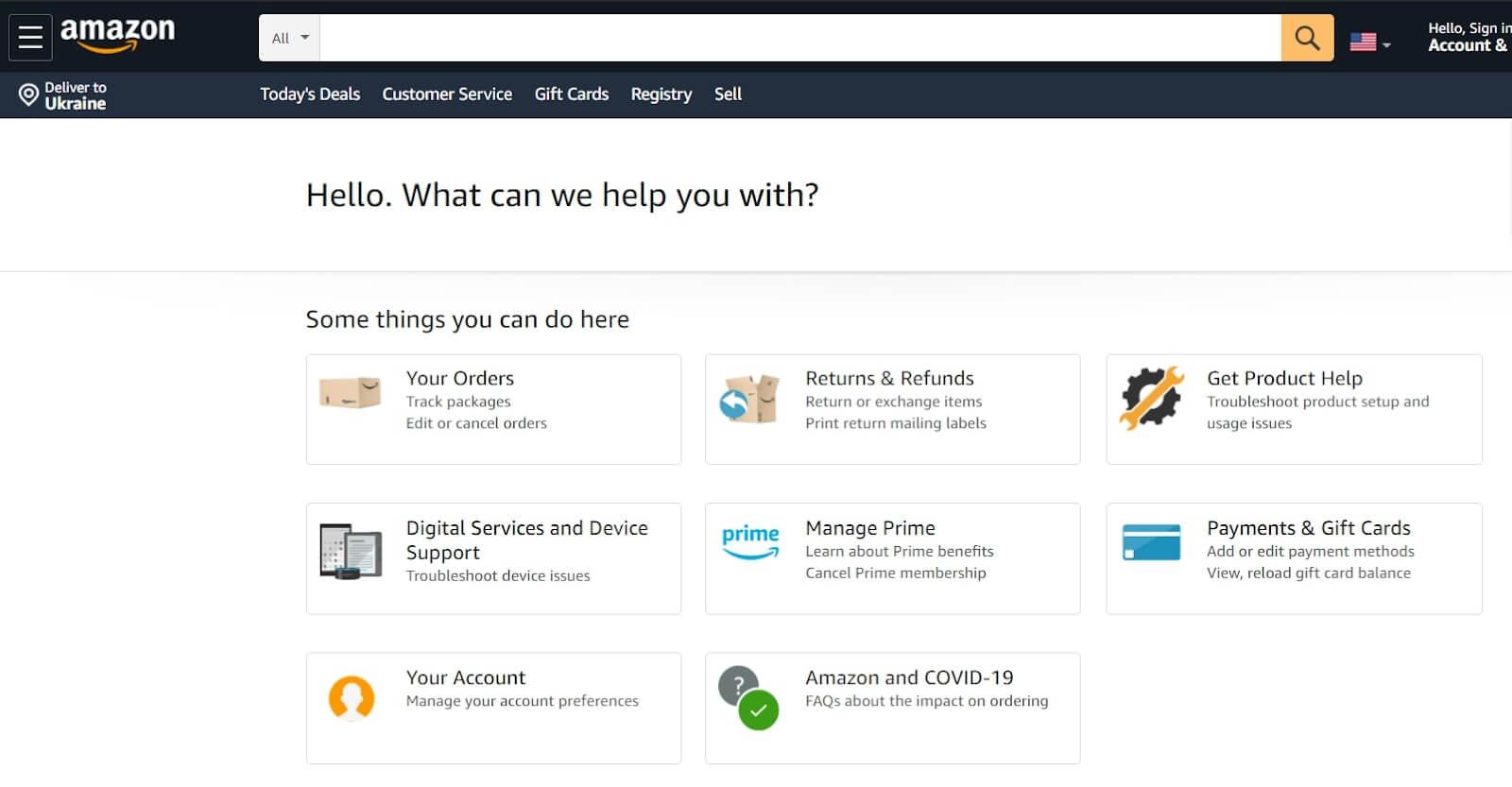 Customer service philosophy by Amazon