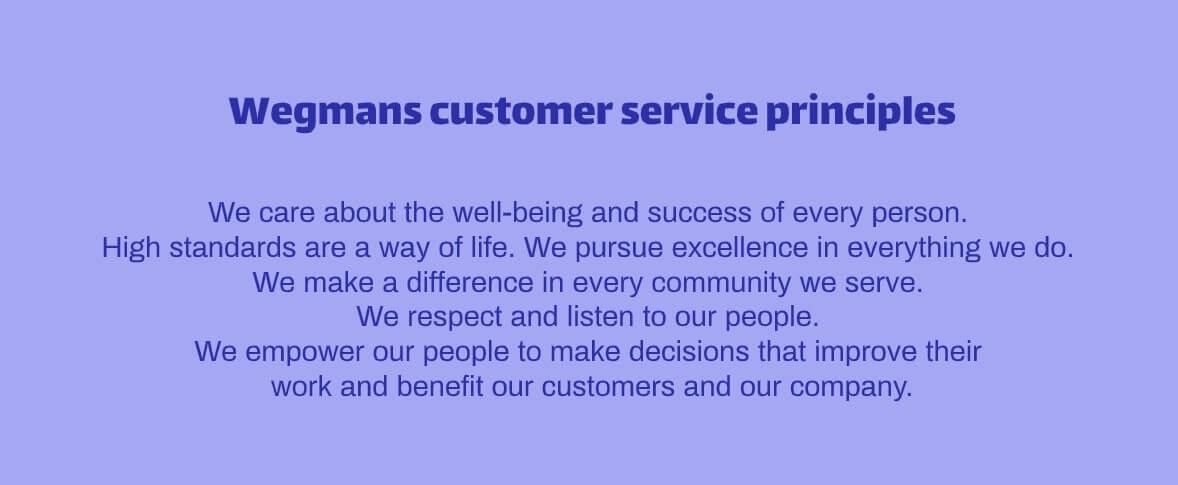 Wegmans customer service philosophy statement