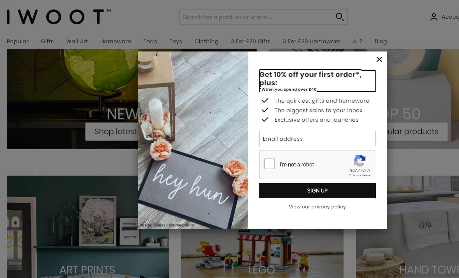 Engagement tactics for e-store