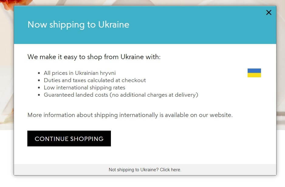 Engagement pop-ups for e-commerce