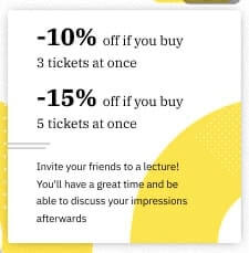"""The conversion rate to buying """"additional"""" tickets was 3,13%."""