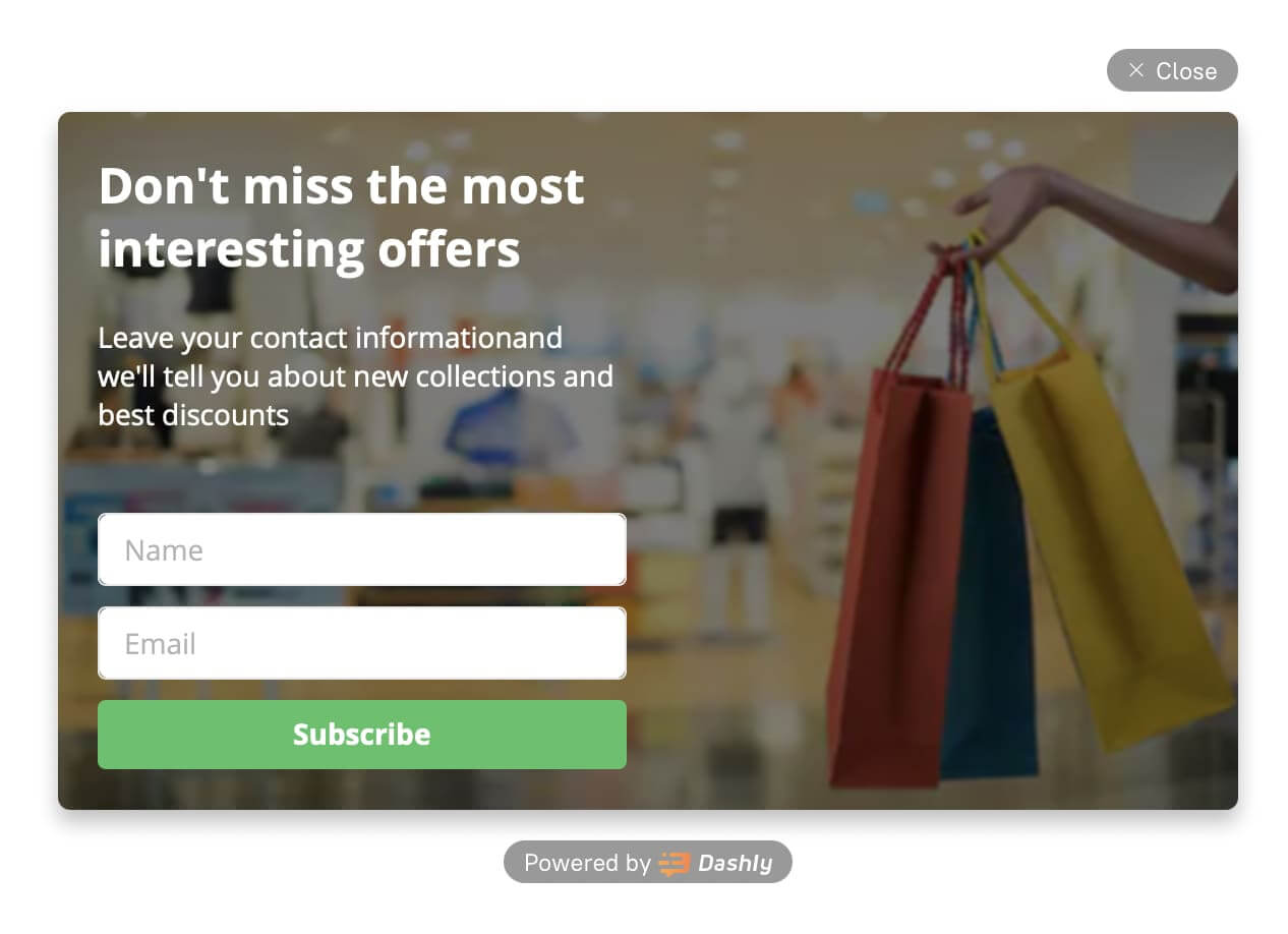 Collect customers email and send them engaging email