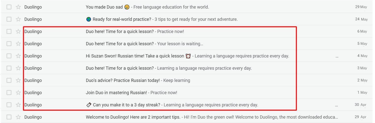 Summary Duolingo