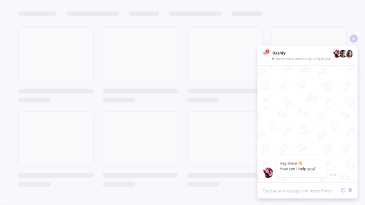 The standard live chat design