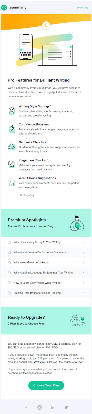Onboarding example Grammarly #4