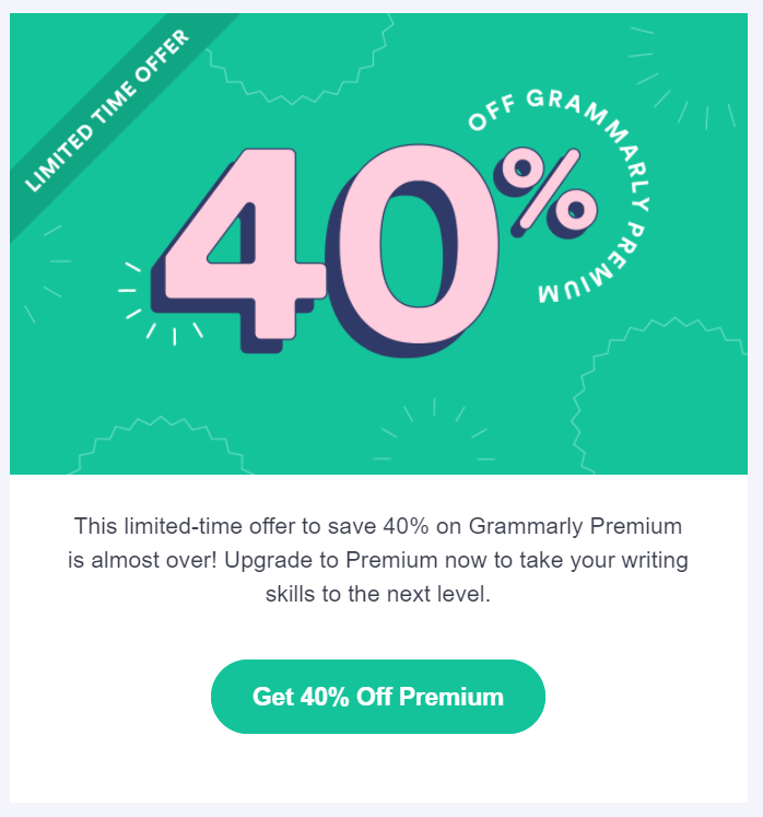 Onboarding email example Grammarly #6