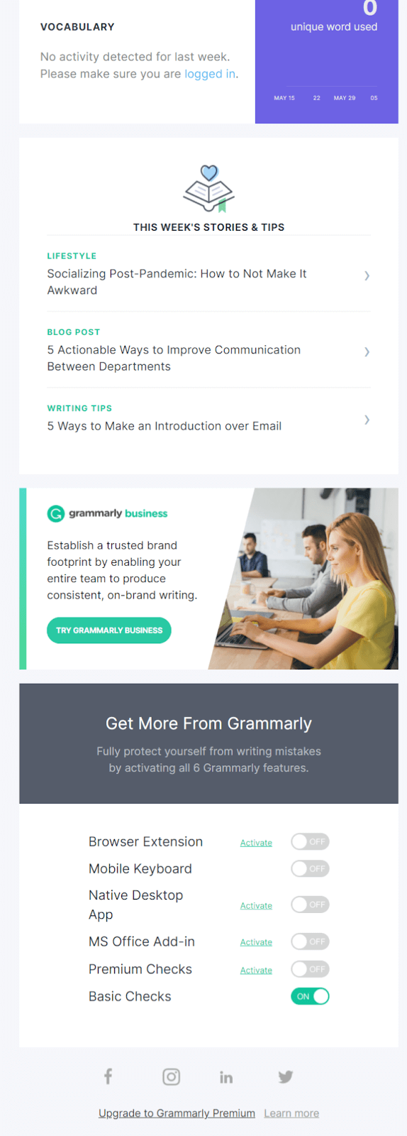 Onboarding email example #7, second part