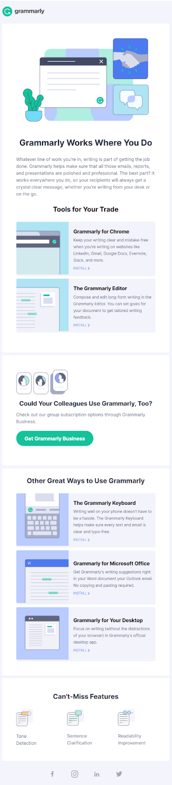 Onboarding email example #3