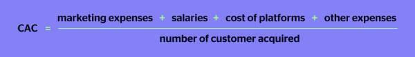 Customer acquisition cost pro formula