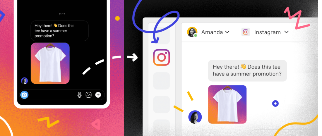 Instantly reply tocustomer requests from Instagram from the Inbox