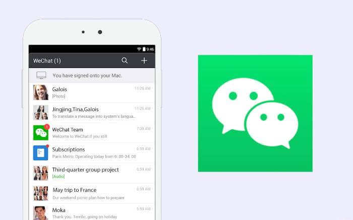 WeChat: messenger customer service